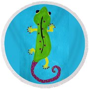 Gecko Gecko Round Beach Towel