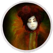 Geisha5 - Geisha Series Round Beach Towel