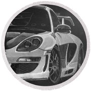 Gemballa Porsche Left Round Beach Towel