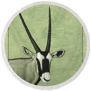 Gemsbok Round Beach Towel