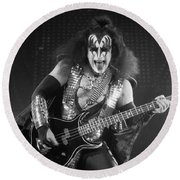 Gene Simmons Round Beach Towel