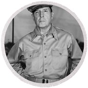 General Douglas Macarthur Round Beach Towel
