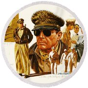 General Macarthur Round Beach Towel