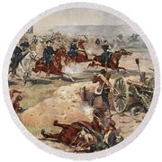 General Sheridans Final Charge Round Beach Towel