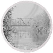Genesee River Round Beach Towel