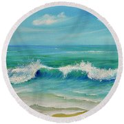 Gentle Breeze Round Beach Towel