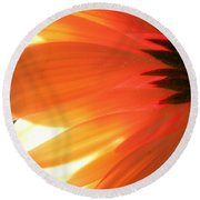 Gentle Flame Round Beach Towel