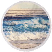 Gentle Light  Round Beach Towel