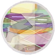Round Beach Towel featuring the digital art Geo-art by Cathy Anderson