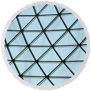 Geometric Charm Round Beach Towel