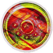 Geometric Colors  Round Beach Towel by Prakash Ghai