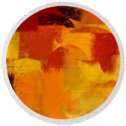 Geomix 05 - 01at01b Round Beach Towel by Variance Collections