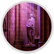 George Washington At The National Cathedral Round Beach Towel