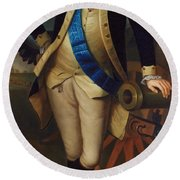 George Washington Round Beach Towel by Charles Wilson Peale