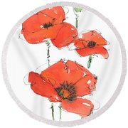 Georgetown Texas The Red Poppy Capital Round Beach Towel