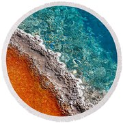 Geothermic Layers Round Beach Towel