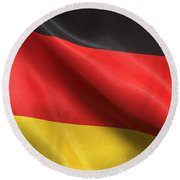 Germany Flag Round Beach Towel by Carsten Reisinger