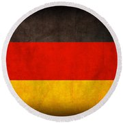 Germany Flag Vintage Distressed Finish Round Beach Towel