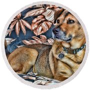 Gerry And The Lounge Chair Round Beach Towel