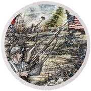 Gettysburg Ash's At The Angle Round Beach Towel