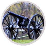 Gettysburg Battlefield Cannon Round Beach Towel by Patti Whitten