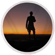 Round Beach Towel featuring the photograph Gettysburg Sunset by Ed Sweeney