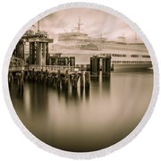 Ghost Ferry Round Beach Towel