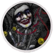 Ghost Harlequin Round Beach Towel by Carol Jacobs