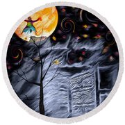 Ghost House 2 - Composite Round Beach Towel