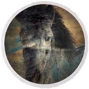 Ghost Pony Round Beach Towel by Irma BACKELANT GALLERIES