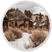 Ghost Town Round Beach Towel by Sue Smith