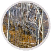 Round Beach Towel featuring the photograph Ghost Willows by Brian Boyle