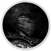 Ghostly Knight Round Beach Towel