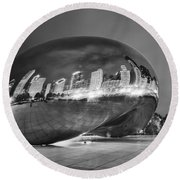 Ghosts In The Bean Round Beach Towel