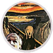 Ghosts Of The Past Round Beach Towel by John Malone