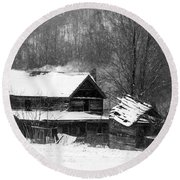 Ghosts Of Winters Past Round Beach Towel