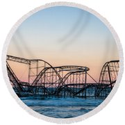 Giant Of The Sea Round Beach Towel