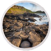 Giant's Causeway Circle Of Stones Round Beach Towel