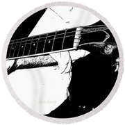 Gibson Guitar Graphic Round Beach Towel
