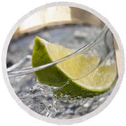 Gin Tonic Cocktail Round Beach Towel