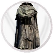 Giordano Bruno Round Beach Towel
