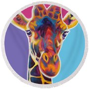 Giraffe - Marius Round Beach Towel