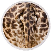 Giraffe Butt Round Beach Towel