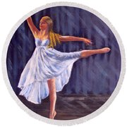 Girl Ballet Dancing Round Beach Towel