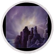 Girnigoe Castle Round Beach Towel