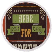 Give Thanks I Round Beach Towel