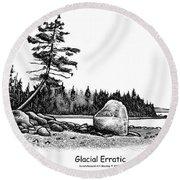 Glacial Erratic Round Beach Towel