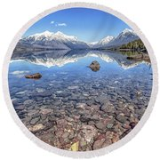 Glacial Lake Mcdonald Round Beach Towel