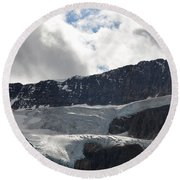 Glacial Mountain Round Beach Towel by Cheryl Miller