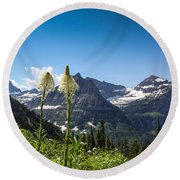 Glacier Grass Round Beach Towel